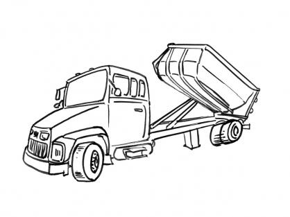 coloriage à imprimer camion poubelle
