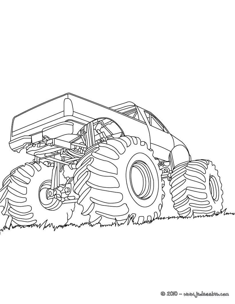 dessin à colorier camion semi remorque