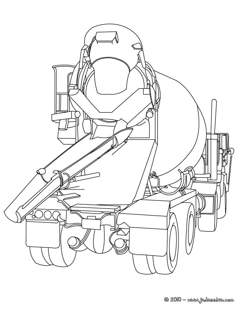 dessin à colorier camion americain a imprimer