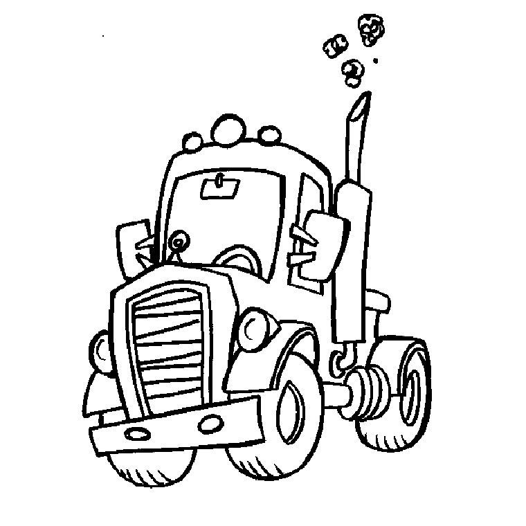 dessin à colorier à imprimer camion de police