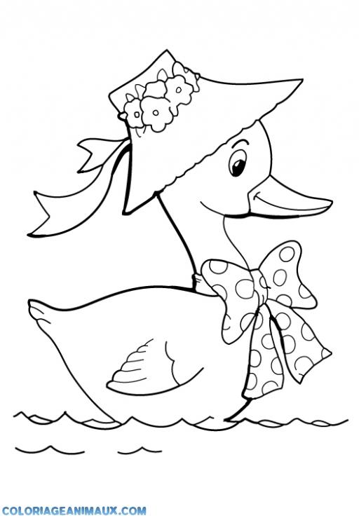 Coloriage dessiner vilain petit canard - Canard a colorier ...