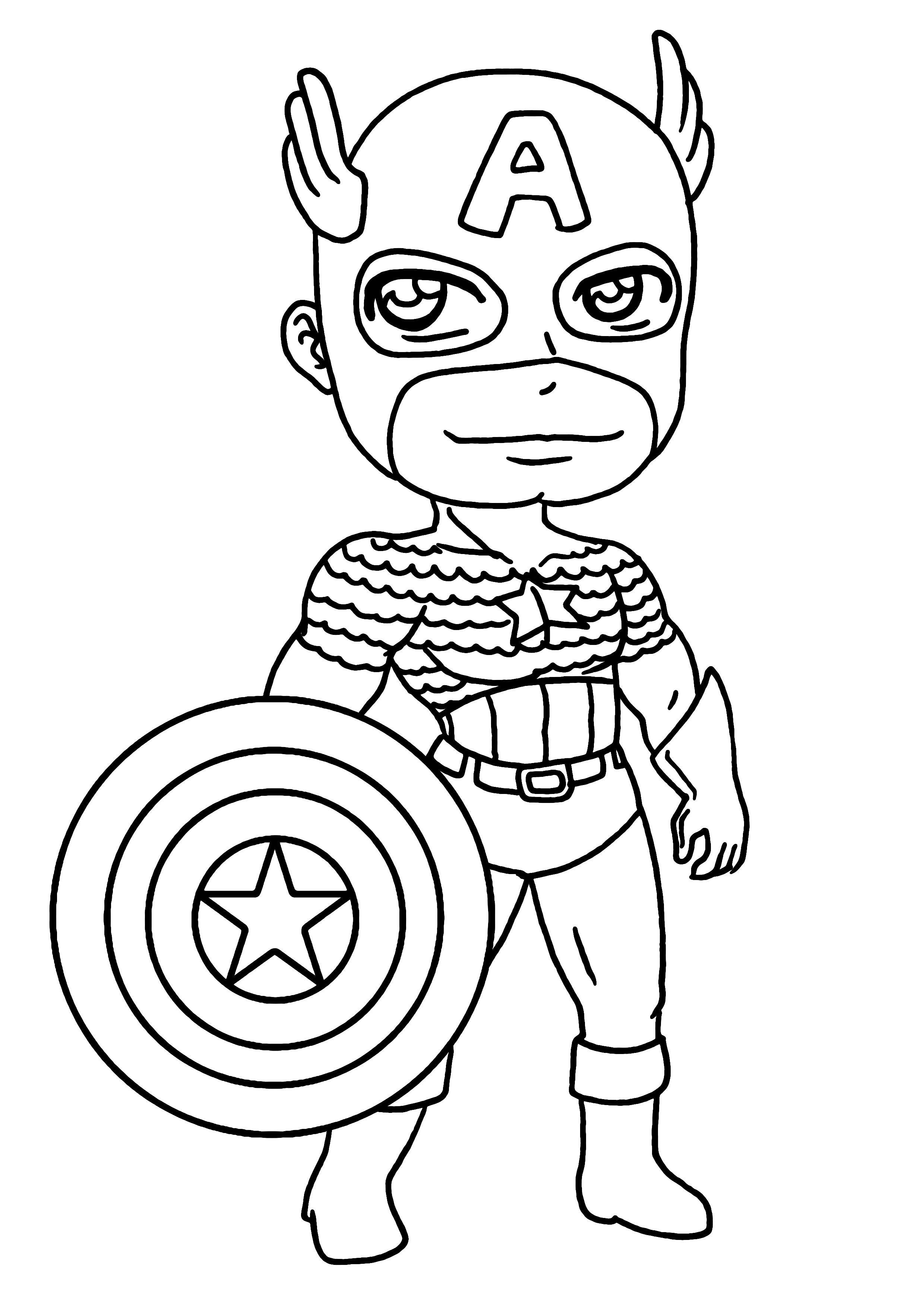 coloriage captain america a imprimer