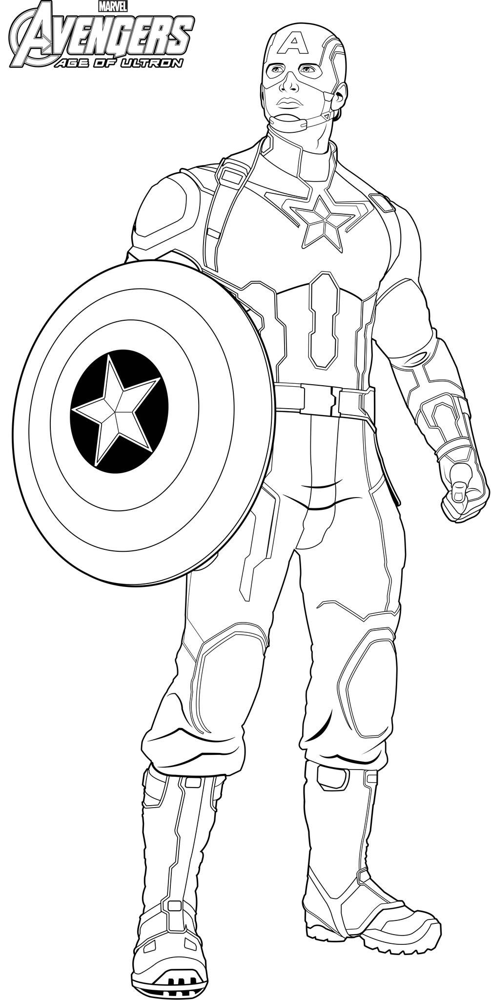 17 dessins de coloriage captain america avengers imprimer - Dessin avenger a imprimer ...