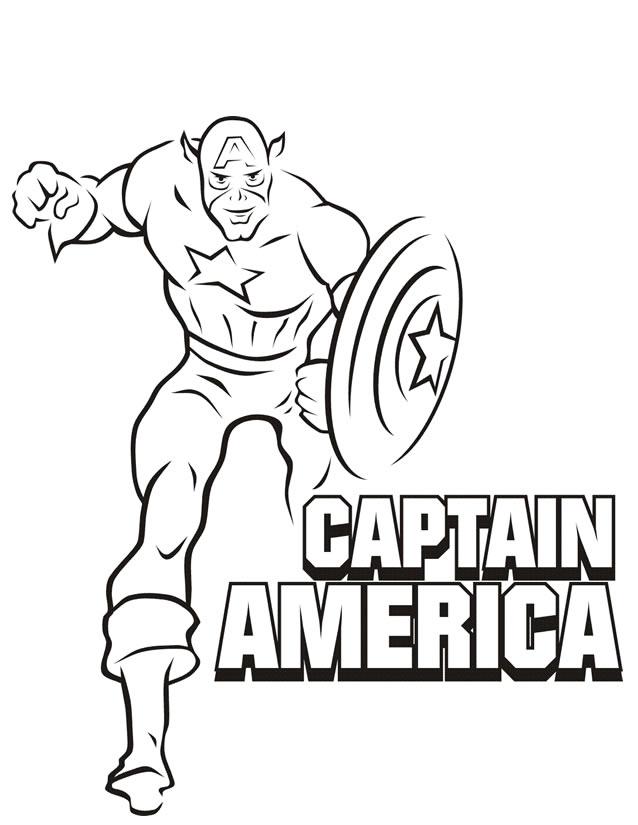 coloriage gratuit capitaine america