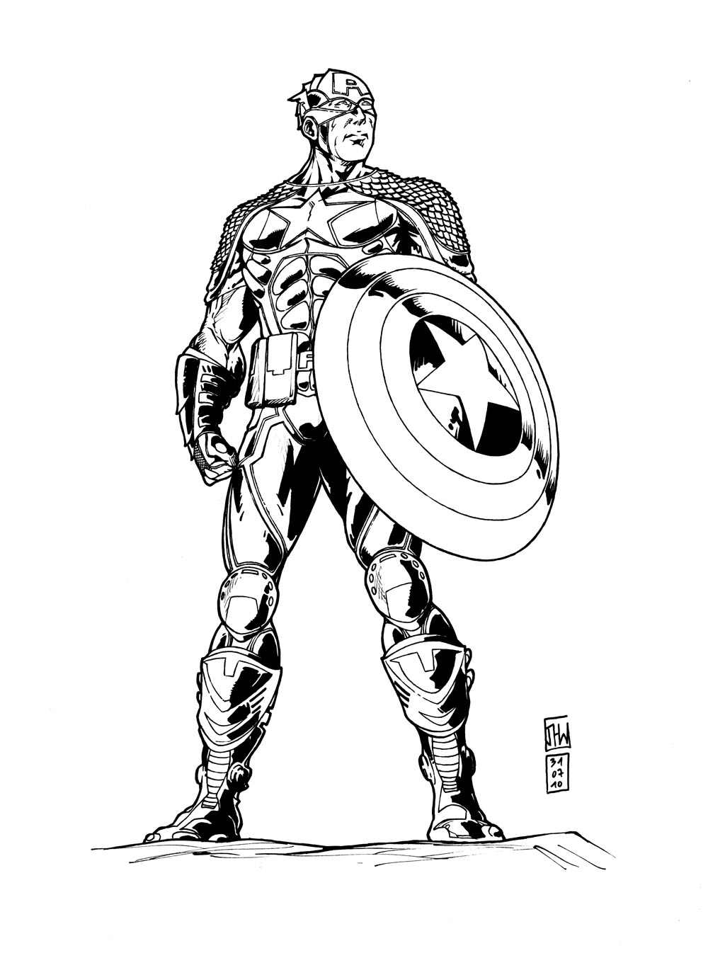 Modele dessin captain america - Captain america coloriage ...