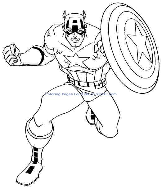 coloriage a dessiner imprimer capitaine america