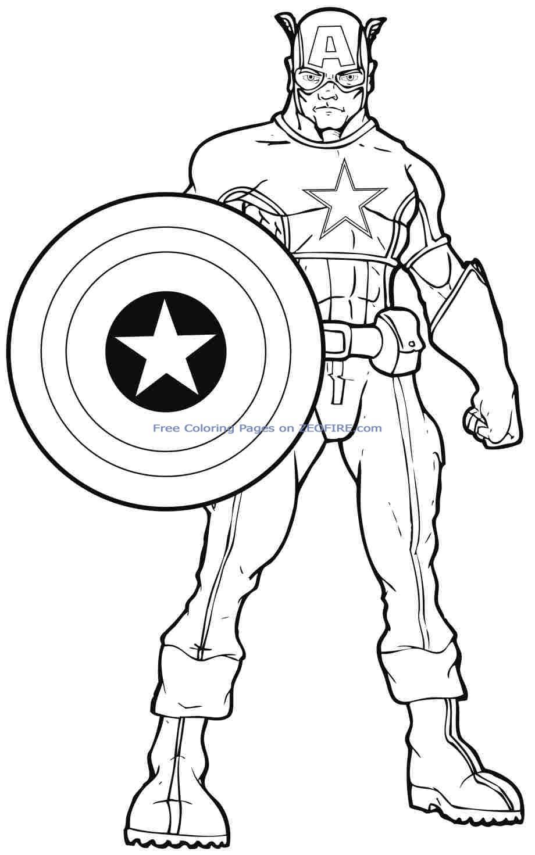 captain america en coloriage ƒ dessiner