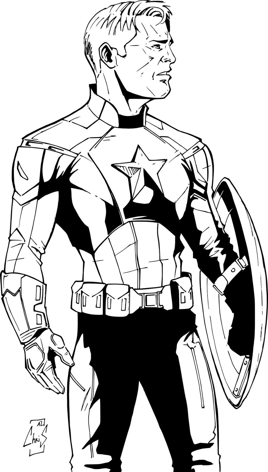 Coloriage Captain America Civil War.Jeux Coloriage Captain America