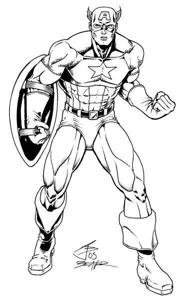 coloriage à imprimer captain america
