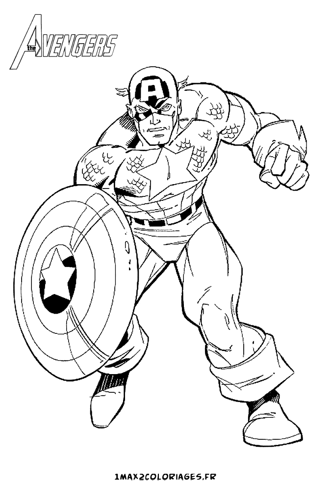 123 dessins de coloriage captain america imprimer - Dessin captain america ...