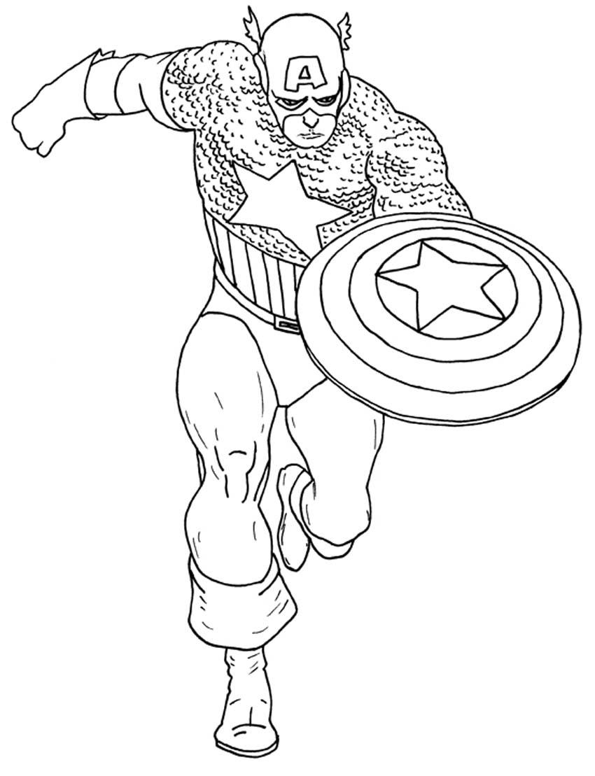 Coloriage captain america imprimer gratuit - Dessin captain america ...