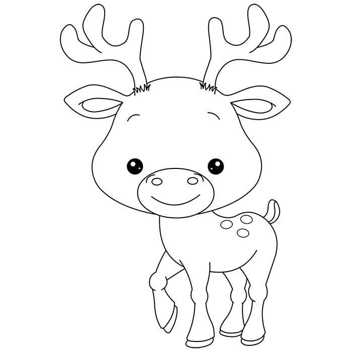 Assez 46 dessins de coloriage Caribou à imprimer KQ33