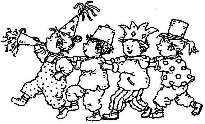 dessin à colorier carnaval nice