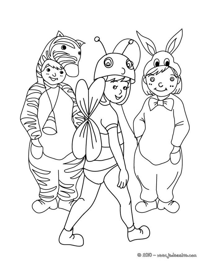 dessin à colorier carnaval de québec