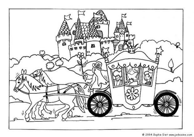 Coloriage Famille Royale.Coloriage Barbie Carrosse