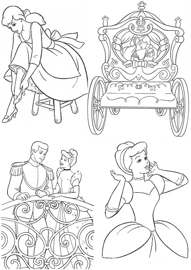 Coloriage carosse princesse - Coloriage carrosse ...