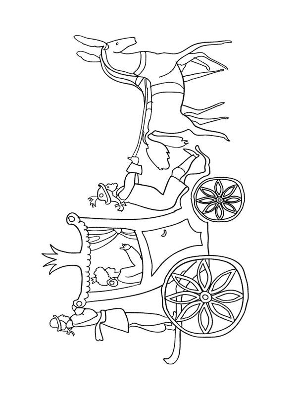 coloriage cendrillon dans son carrosse
