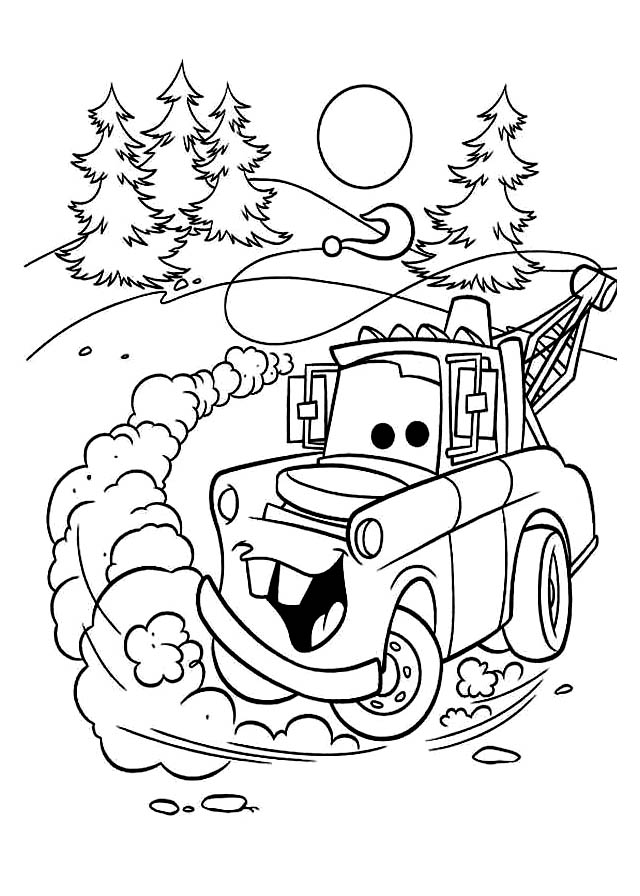 voir le dessin - Coloriage En Ligne Cars