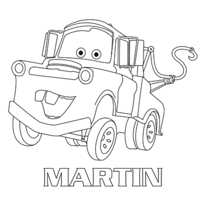 19 dessins de coloriage cars martin imprimer - Coloriages de cars ...