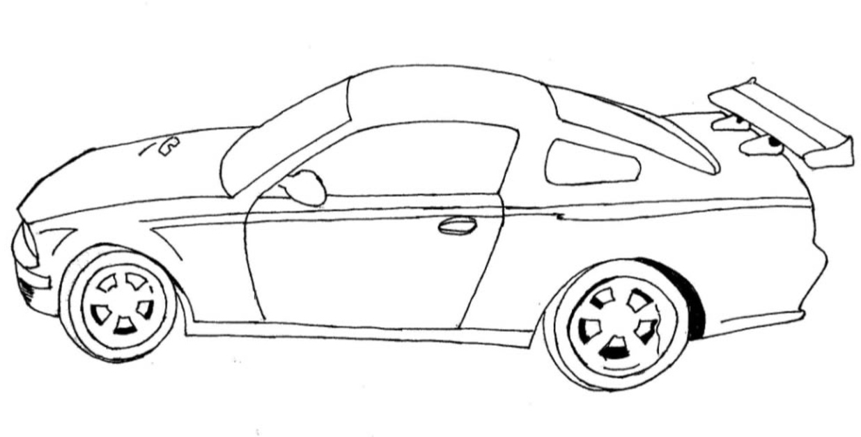 dessin cars moissonneuse
