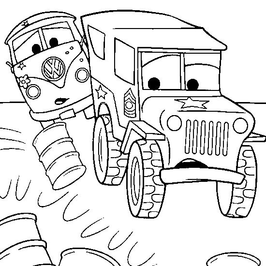 coloriage à dessiner tv cars 2