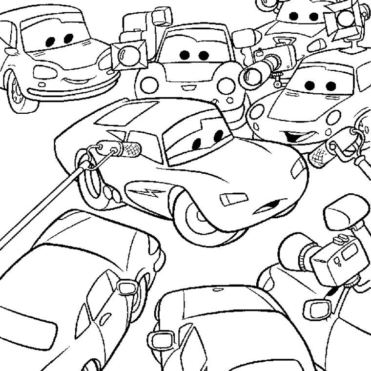 dessin à colorier cars 2 à imprimer