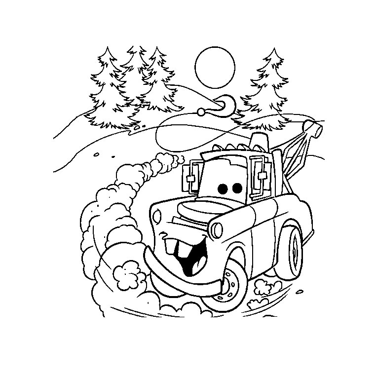 coloriage cars hello kitty