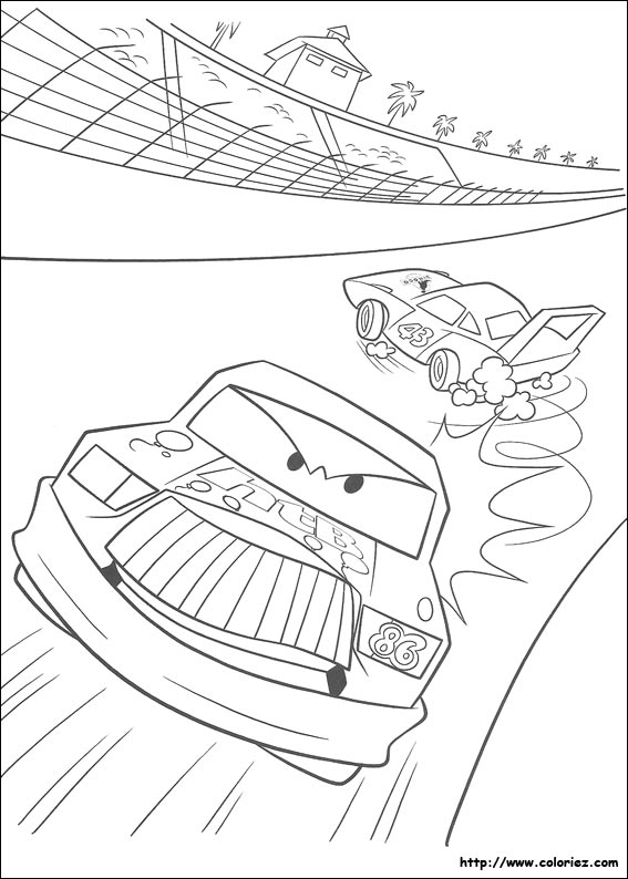 Coloriage Flash Mcqueen Et Doc Hudson.Coloriage Cars Doc Hudson