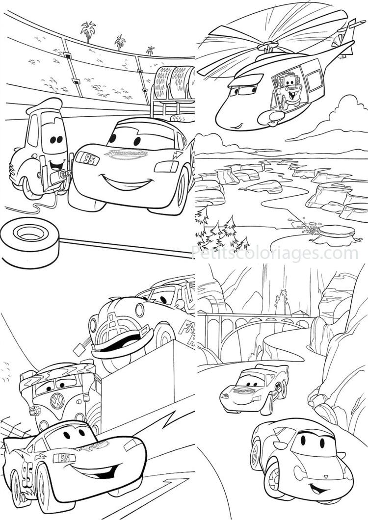 dessin à colorier cars finn mcmissile