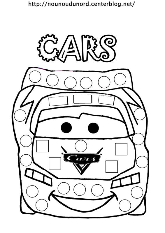 dessin à colorier cars à imprimer
