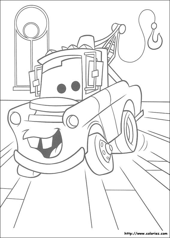 dessin à colorier labyrinthe cars