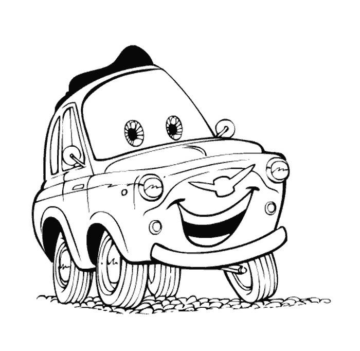 dessin cars à colorier