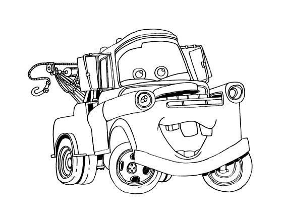 coloriage à dessiner cars et martin