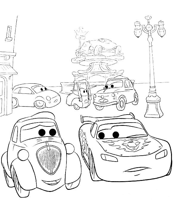 Coloriage cars dj - Coloriage cars mack ...