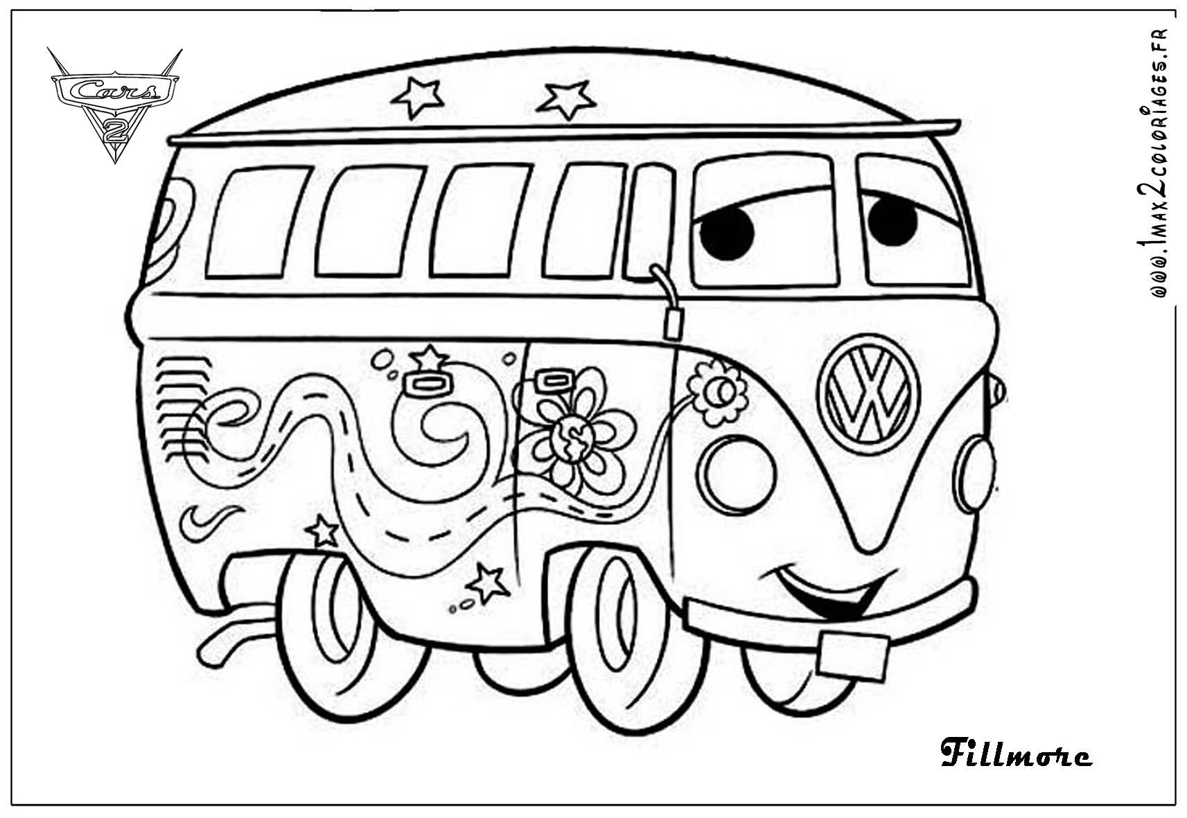 dessin à colorier cars noel