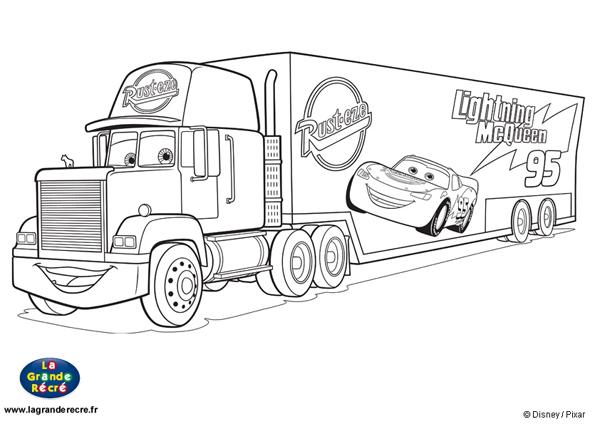 dessin cars 2 gratuit à imprimer