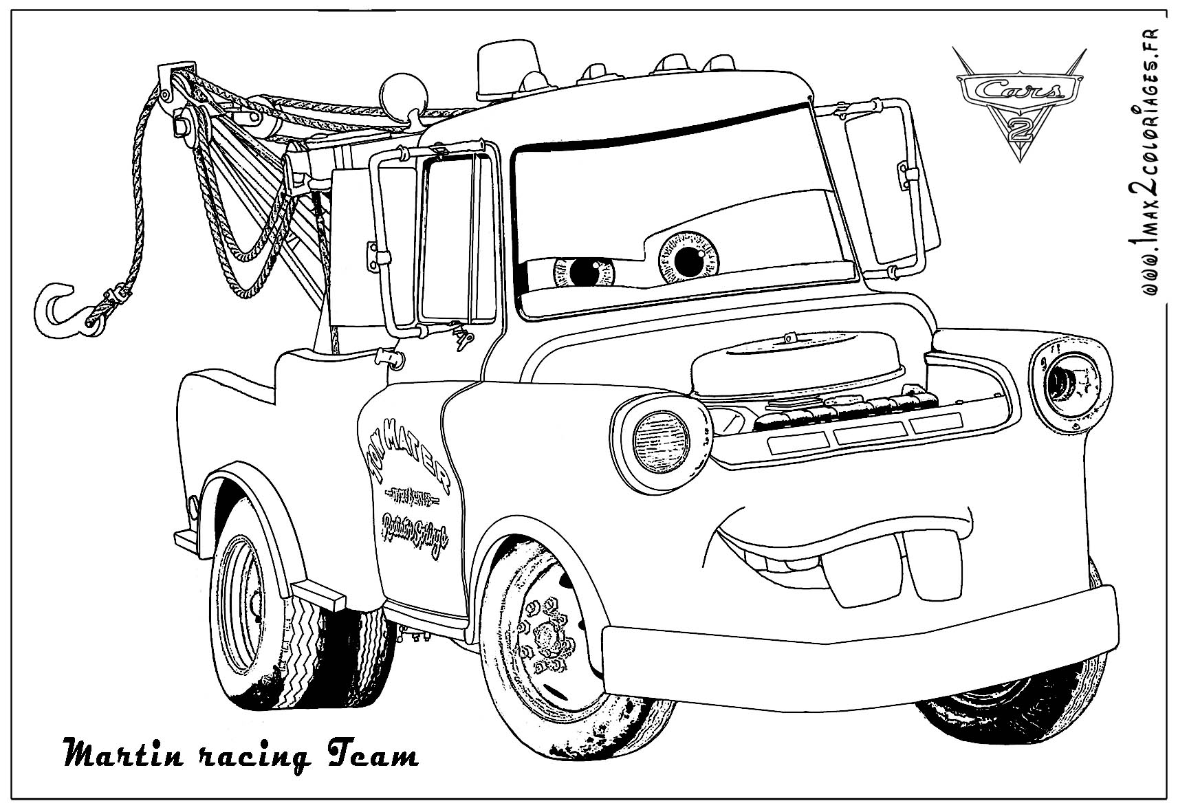 dessin cars en couleur