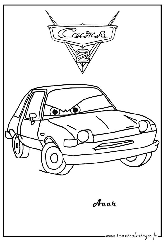 coloriage imprimer cars 2 francesco
