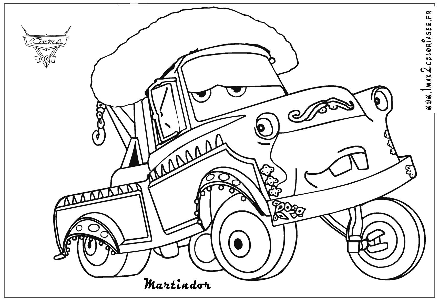 dessin cars 2 gratuit a imprimer