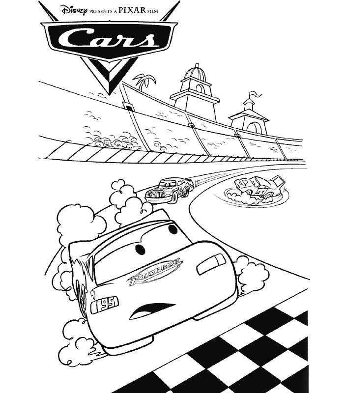 coloriage à dessiner cars 1 à imprimer