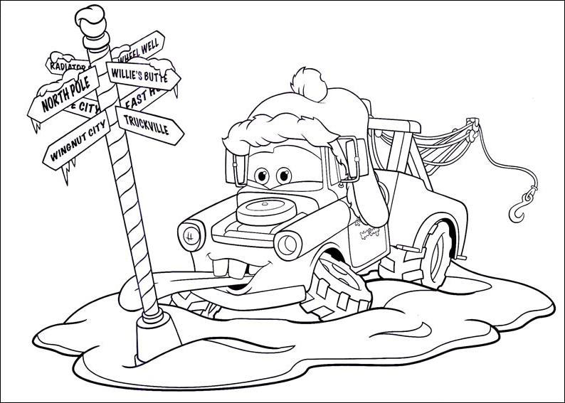 coloriage cars disney gratuit