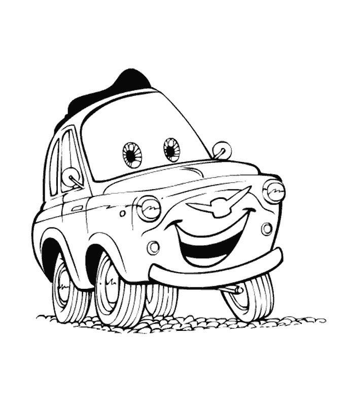 coloriage cars 1 gratuit
