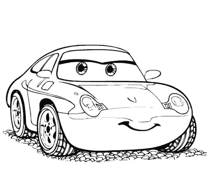 coloriage à dessiner cars et ses amis