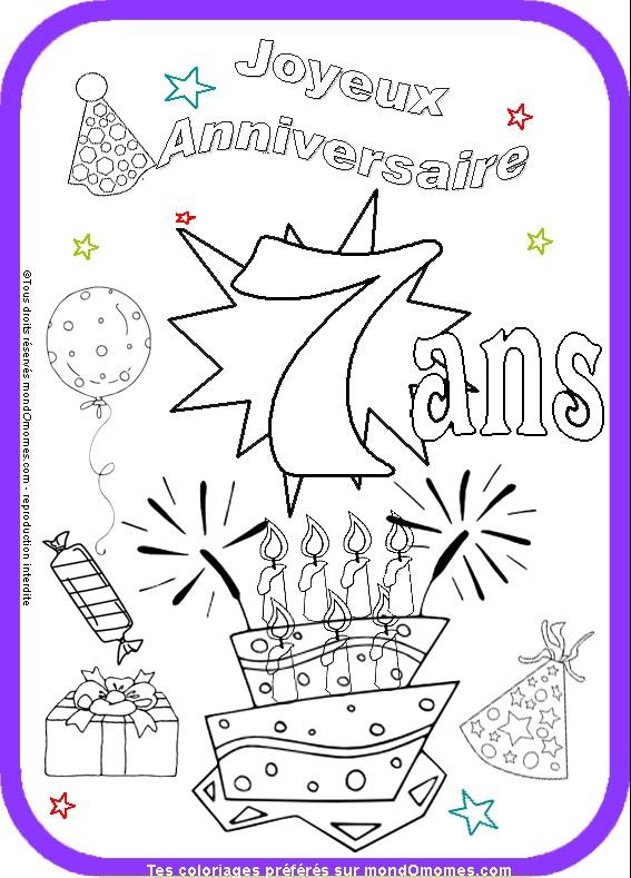 coloriage carte invitation anniversaire
