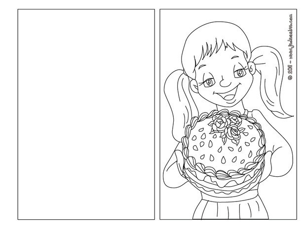 dessin � colorier a imprimer carte d'invitation
