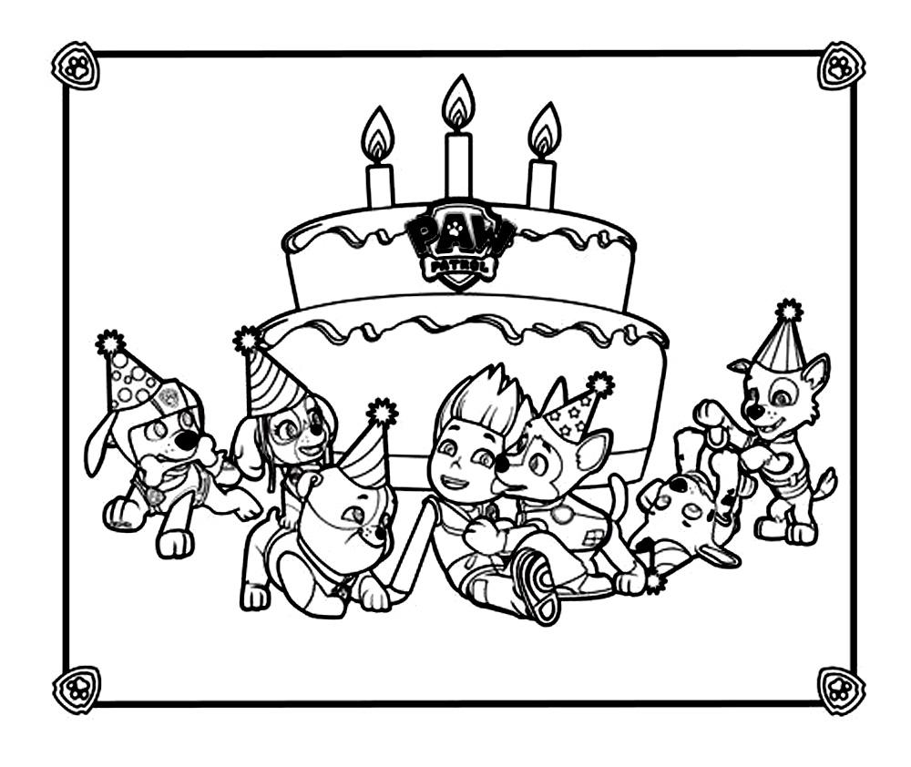 coloriage à dessiner carte invitation anniversaire