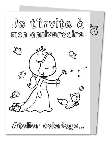 Pin bricolage coloriages invitations invitation anniversaire on pinterest - Carte anniversaire coloriage ...