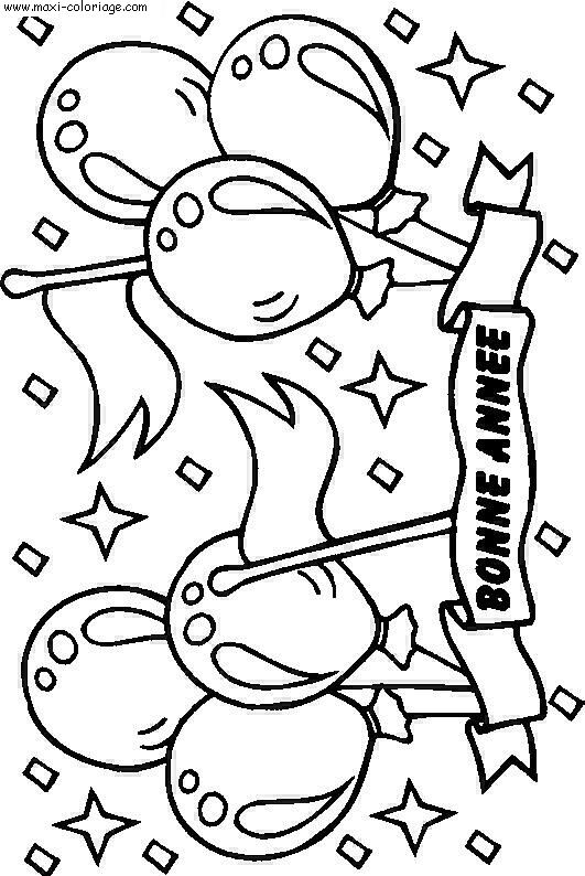 coloriage carte d'invitation anniversaire