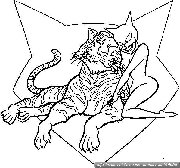 6 dessins de coloriage catwoman imprimer imprimer - Dessin catwoman ...