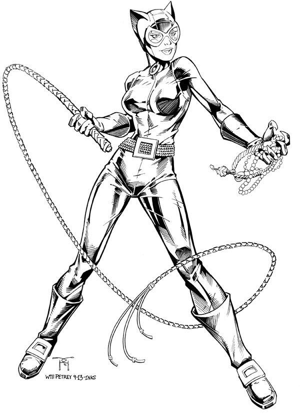 dessin à colorier catwoman a imprimer